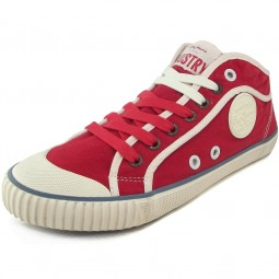 Pepe Jeans Industry Basic Damen Sneakers rot (red hot)