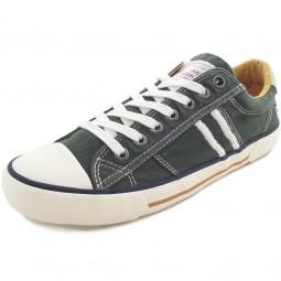 Pepe Jeans Serthi Washed Herren Sneakers oliv (khaki green)