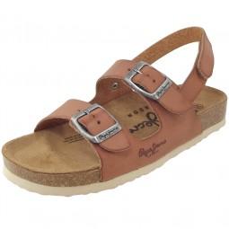 Pepe Jeans Bio Vaqueta Kids Kinder Sandale braun (nut brown)