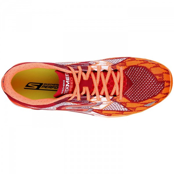 Skechers GoMeb Speed 4 Herren Laufschuhe rot/orange (red/orange) 3