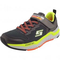 Skechers Hyperjolt Spectrode Jungen Sneaker charcoal/black/lime