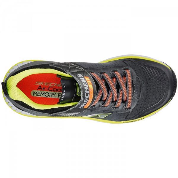 Skechers Hyperjolt Spectrode Jungen Sneaker charcoal/black/lime 3