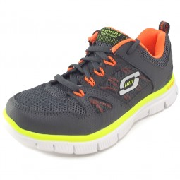 Skechers Flex Advantage Jungen Trainingsschuhe grau/orange (charcoal/orange)