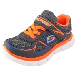 Skechers Flex Advantage Mini Race Kleinkinder Trainingsschuhe grau/orange (charcoal/orange)