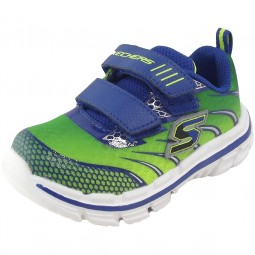 Skechers Nitrate Top Speed Kleinkinder Trainingsschuhe grün/blau (lime/blue)