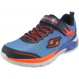 Skechers S Lights Erupters II Lava Arc Jungen Leucht Sneaker blau (blue/orange)