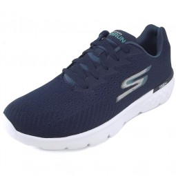 Skechers GOrun 400 Sole Damen Work-out Schuhe dunkelblau/weiß (navy/white)