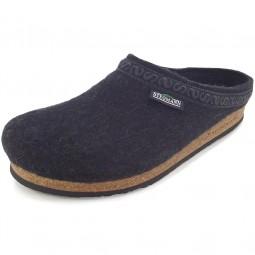 Stegmann 108 Unisex Wollfilz-Pantoffeln graphit
