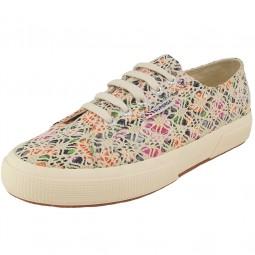 Superga 2750 LaceFlowersW Damen Sneaker multicolor beige