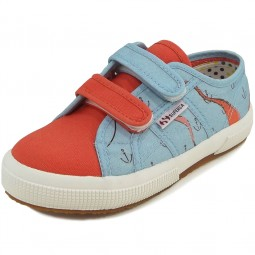 Superga 2750 Fantasy Covj Kinder Sneaker azurblau/rot (sea azure)