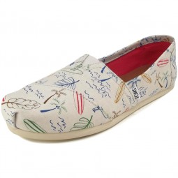 Toms Classic Surf City Wm Damen Espadrilles beigegrau (grey multi)