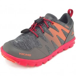 Viking Gore-Tex Bislett GTX Kinder Trailschuhe grau/rot (charcoal/red)