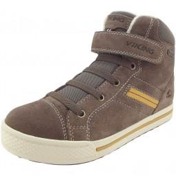 Viking Gore-Tex Eagle III GTX Jungen Winter Sneaker taupe/mustard