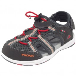 Viking Thrill Kinder Trekkingsandale grau/rot (charcoal/red)